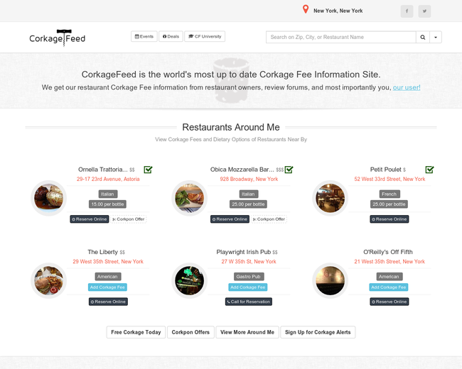 CorkageFeed.com