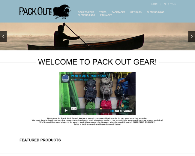 Pack Out Gear