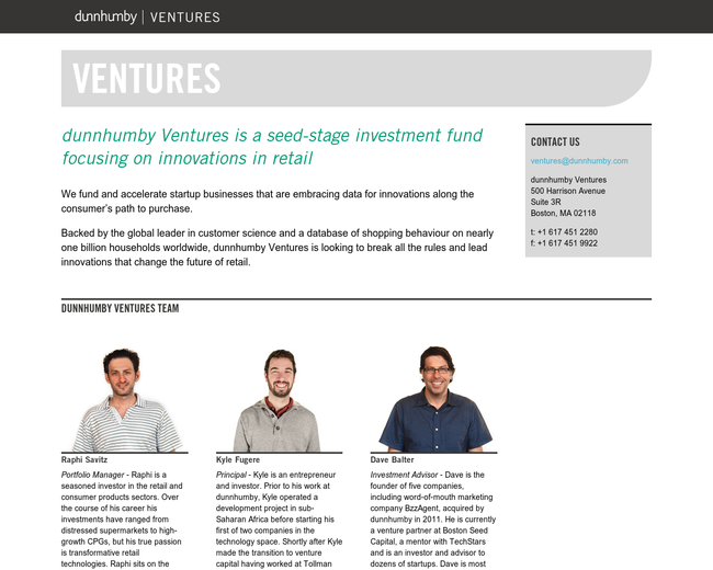 dunnhumby  Ventures