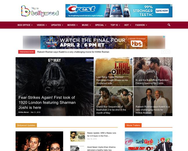 blog to Bollywood
