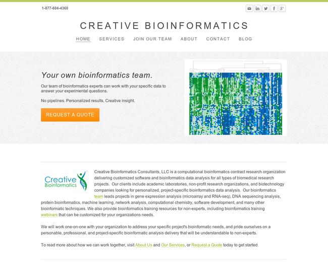 Creative Bioinformatics