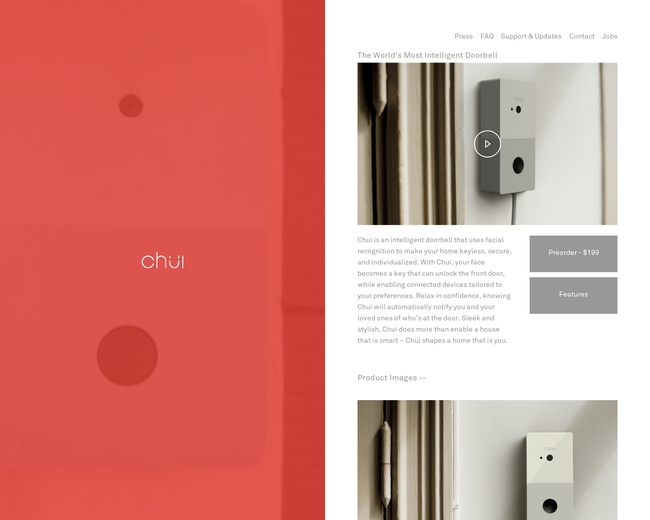 Chui: Intelligent Doorbell