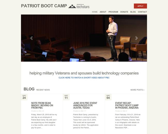 Techstars Patriot Boot Camp