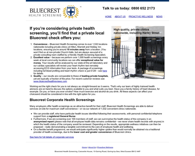 Bluecrest Health Screening