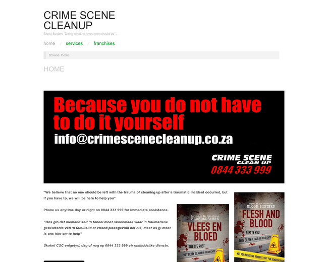 Crime Scene Cleaning Franchise
