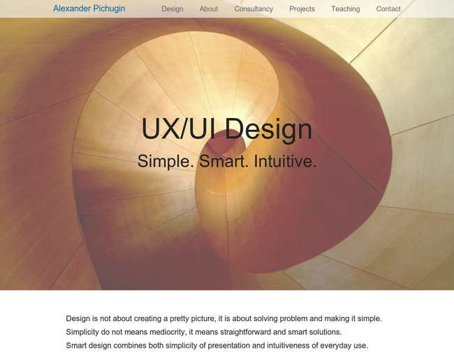 Alexander Pichugin UI/UX Consultancy
