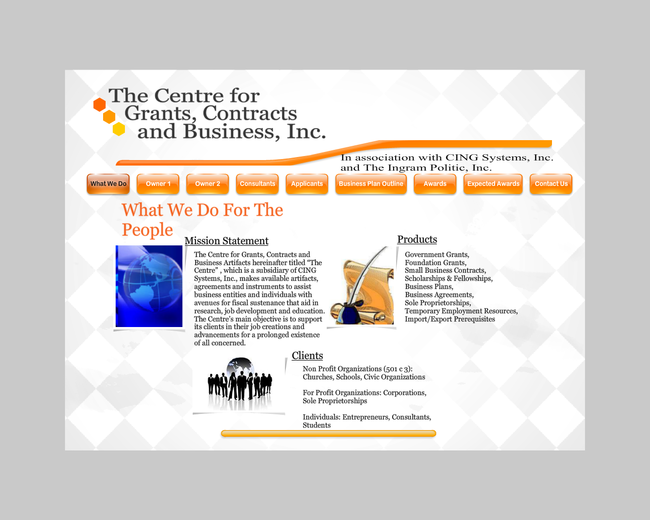 Centre for Grants, Contact and Business