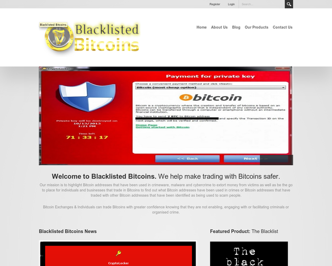 Blacklisted Bitcoins