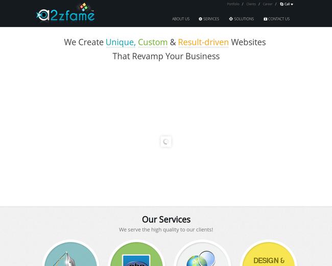 a2zfame india - web development company