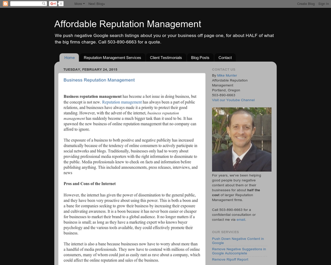 Affordable Reputation Management