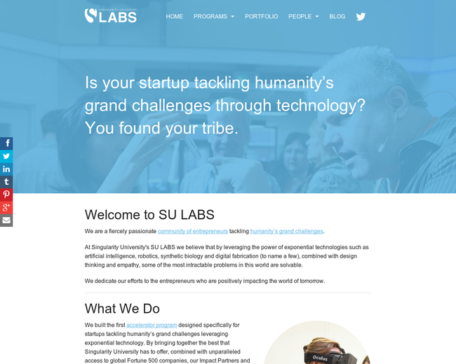 Singularity University – Startup Lab