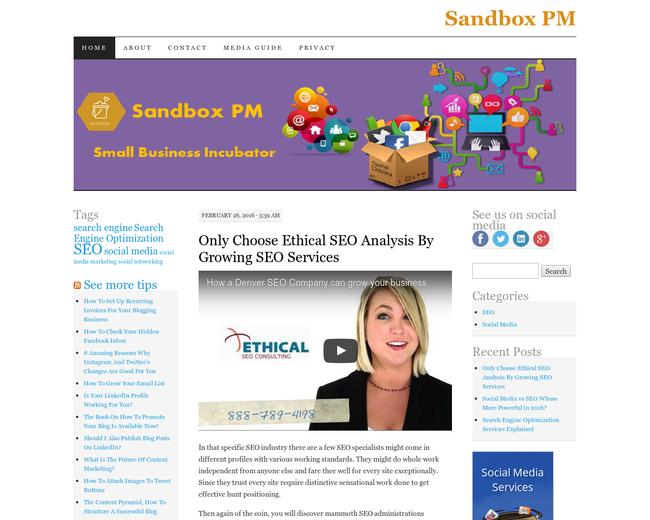 Sandbox an Idea to Launch Company