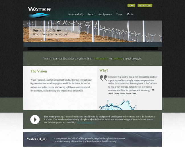 water financial