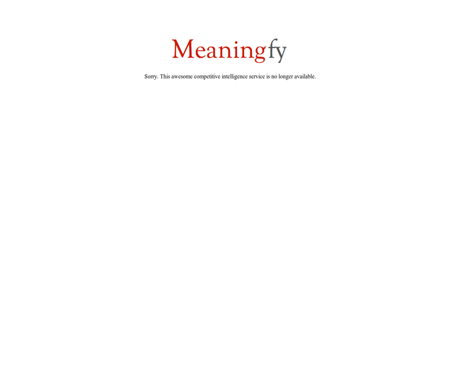 Meaningfy