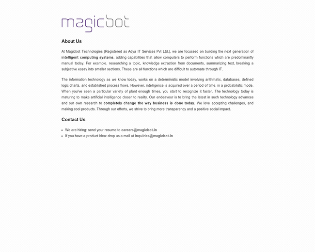 MagicBot Technologies