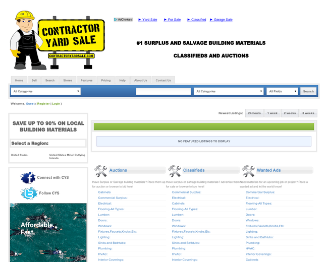 Contractor Yard Sale