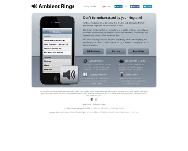 Ambient Rings