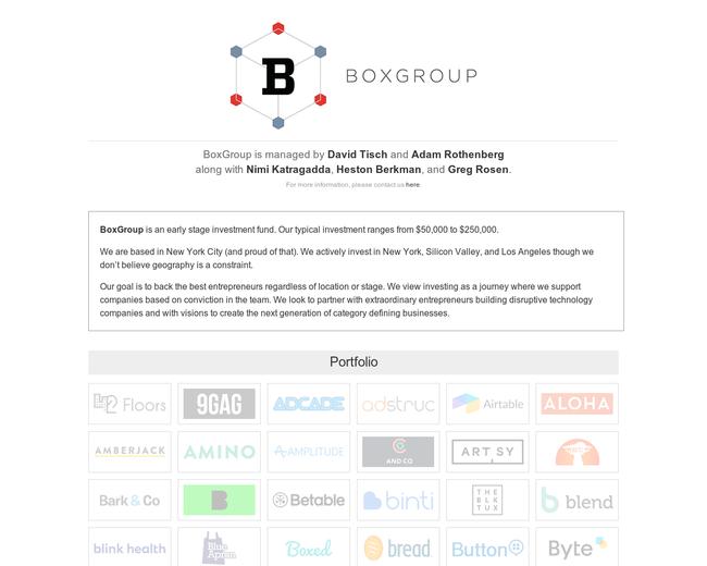 BoxGroup