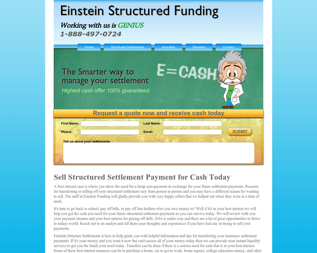 Einstein Structured Settlements