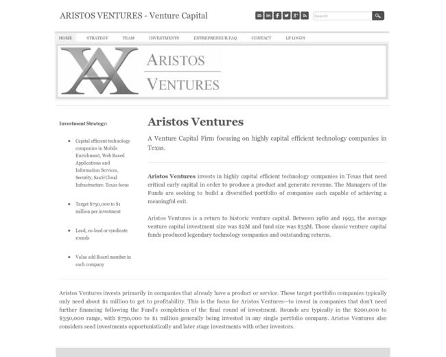 Aristos Ventures