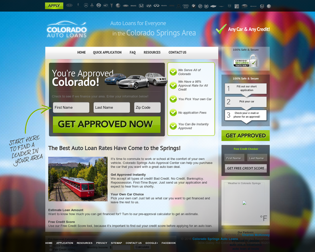 Colorado Springs Auto Loans