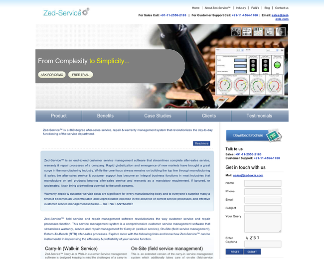 Zed-Service™:Service Management Software