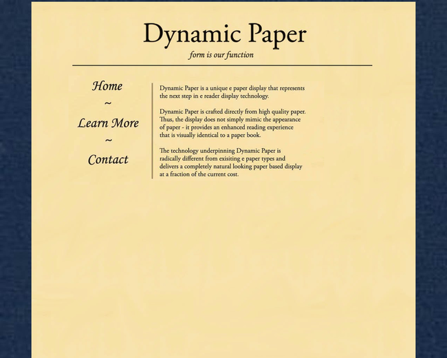 Dynamic Paper Display