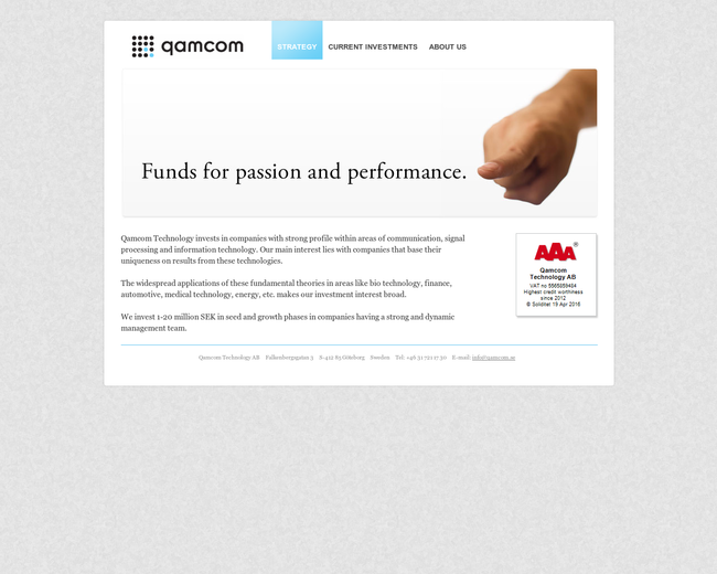 Qamcom Technology AB