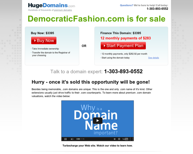 Democratic Fashion