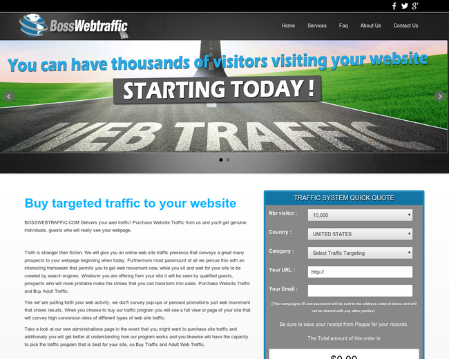 Boss Web Traffic