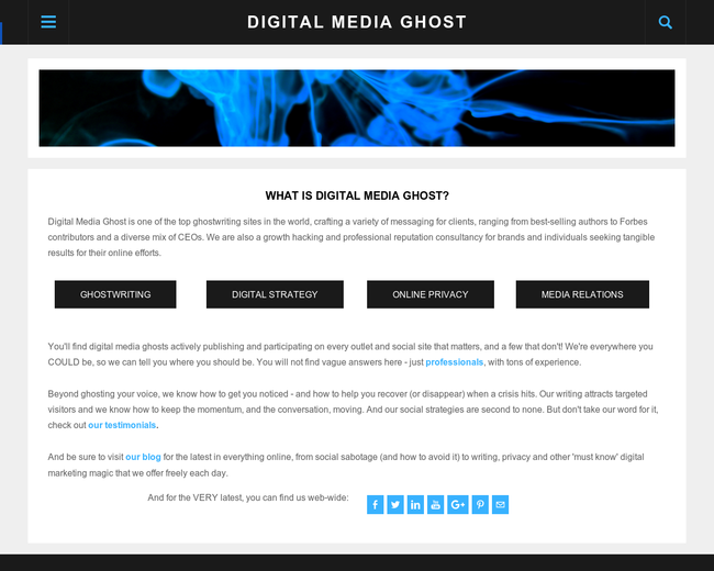 Digital Media Ghost