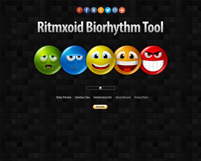 Ritmxoid Biorhythm Tool