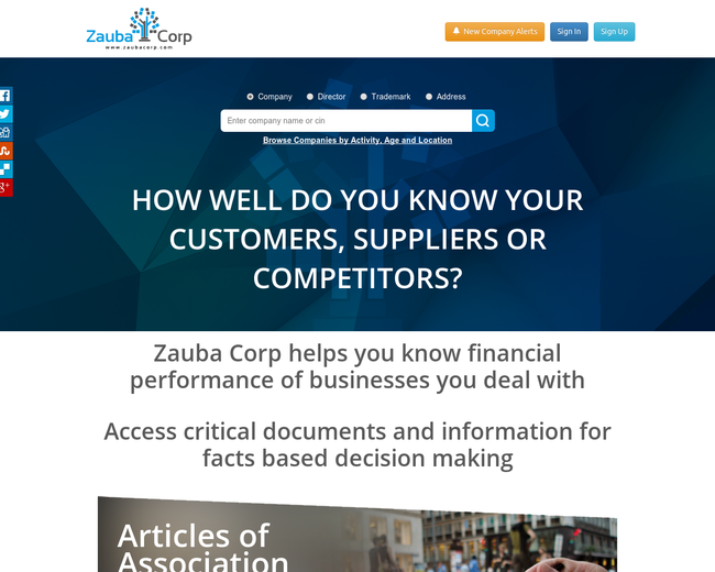 Zauba Technologies & Data Services