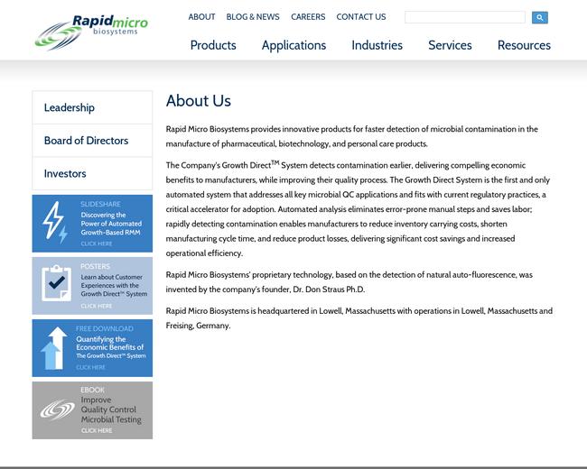 Rapid Micro Biosystems