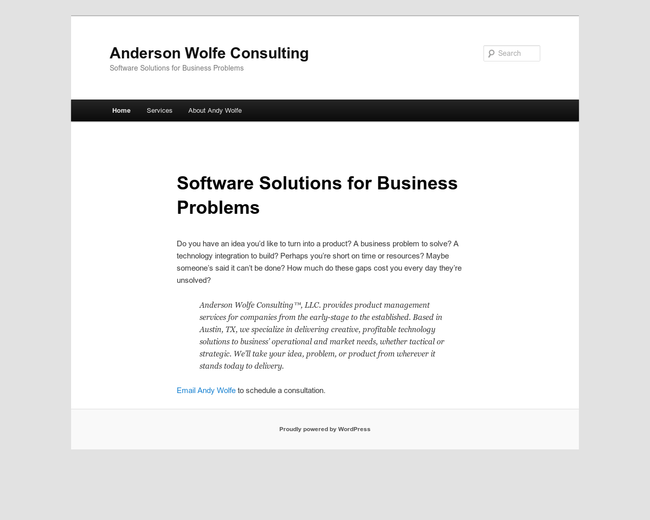Anderson Wolfe Consulting