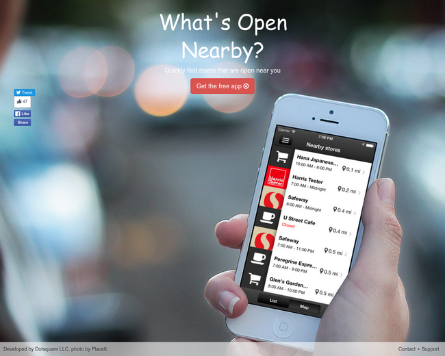 What's Open Nearby?